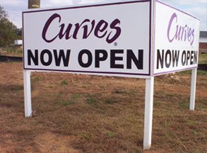 Outdoor Signs & Exterior Signs Curves Post Panel