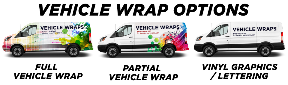 Rocky View County Vehicle Wraps vehicle wrap options
